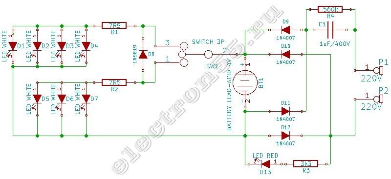 Схема китайского светодиодного