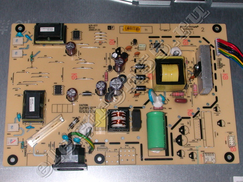 Основные компоненты монитора: