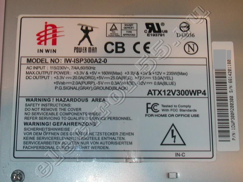на плате IW-P300AX REV:1.2